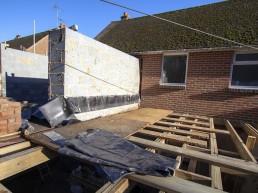 Breeze and brickwork construction by Flint & Dean