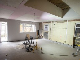 Kitchen extension construction in Milland